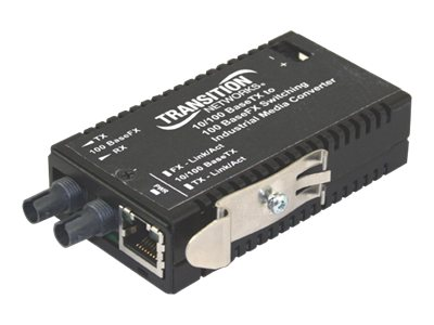 Transition Hi-Temp Mini 10 100BTX to 100BFX 1310NM MM ST, M/E-ISW-FX-01, 11864664, Network Transceivers