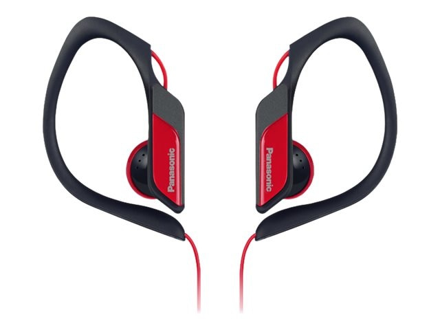 Panasonic HS34 Water Sweat Resistant Sports Clip Earbud - Red, RP-HS34-R