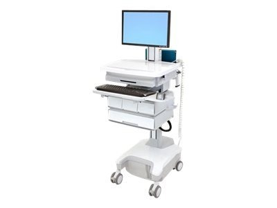 Ergotron StyleView PHD Laptop Cart, 4 Drawers, Powered, SV32-81124, 12331190, Computer Carts - Medical