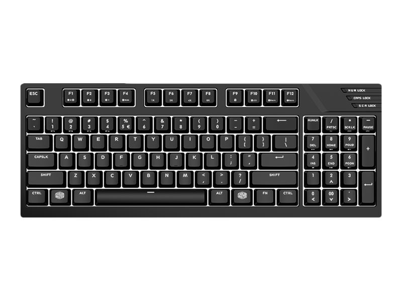 Cooler Master Masterkeys Pro M White LEDs Cherry MX Red Switches, Detachable USB Cable, Black, SGK-4080-KKCR1-US