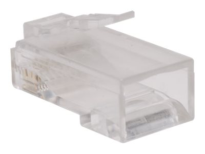 Tripp Lite Cat6 RJ-45 Connectors for Solid Stranded Cable, 100-Pack, N230-100