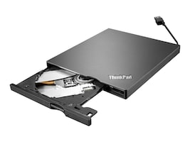 Lenovo ThinkPad UltraSlim USB DVD Burner, 4XA0E97775, 17025028, DVD Drives - External