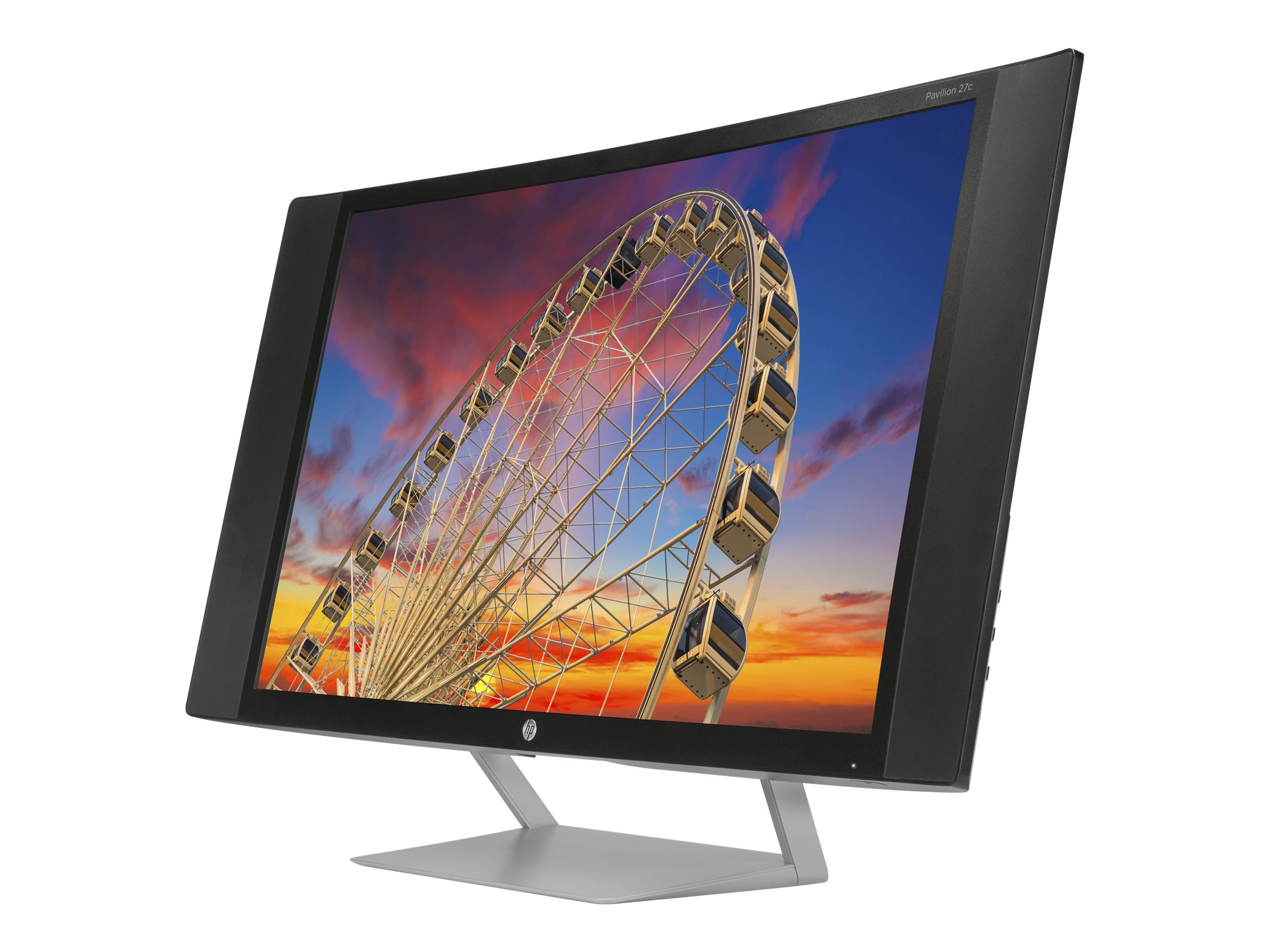 HP 27 Pavilion 27c Full HD LED-LCD Curved Display, Black, J9G67AA#ABA