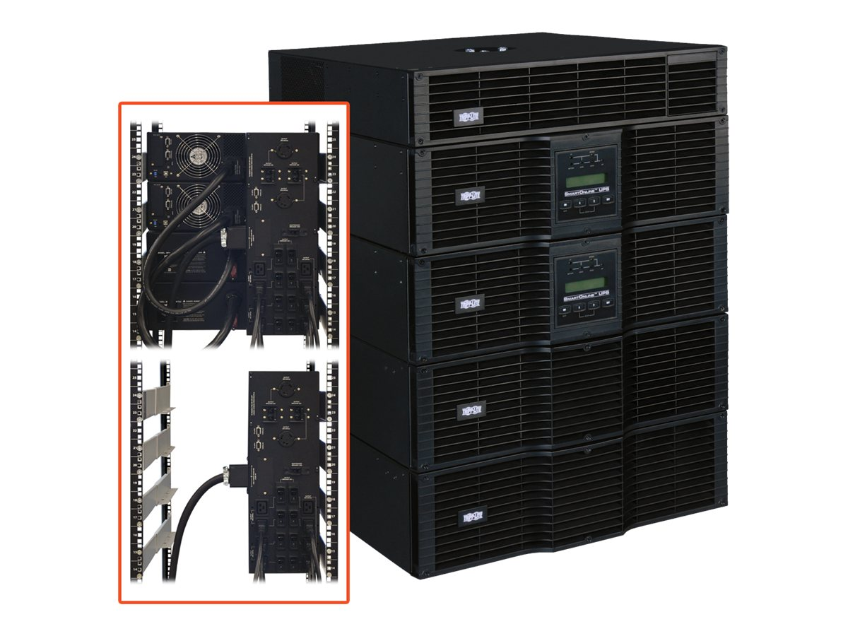 Tripp Lite SmartOnline EZ-series 16kVA 14.4kW Online 240V 14U RM UPS with Step-down Transformer (22) Outlets, SU16KRT-1TF