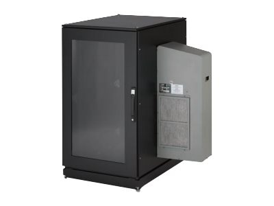Black Box ClimateCab NEMA 12 Server Cabinet w  M6 Rails, 8000-BTU AC Unit, 24U