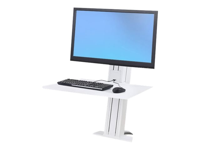 Ergotron WorkFit-SR, Heavy Monitor, Sit-Stand Desktop Workstation, White