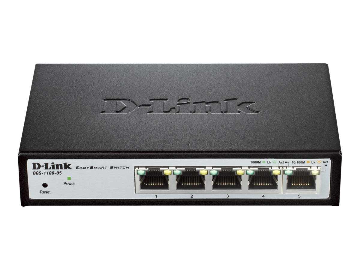 D-Link 5-port Gigiabit Easy Smart Switch, DGS-1100-05, 15107476, Network Switches