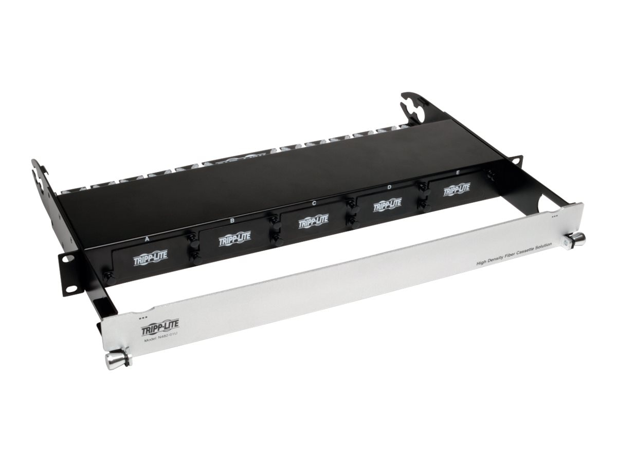 Tripp Lite High Density Fiber Enclosure Panel, 1U, 5-Cassette Capacity, N482-01U, 17846281, Rack Mount Accessories