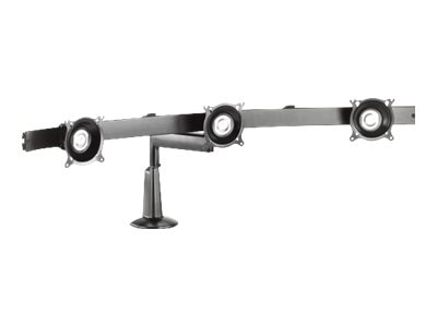 Chief Manufacturing Triple Monitor Single Arm Desk Mount, Silver