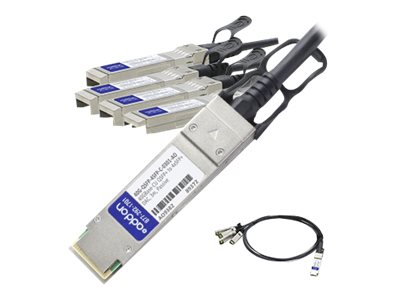 ACP-EP 40GBase-CU QSFP+ to 4xSFP+ Direct Attach Passive Twinax Cable for Arista, 3m, 40G-QSFP-4SFP-C-0301-AO