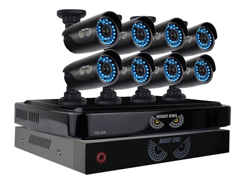 Night Owl 8 Channel Smart HD Video Security System with Battery Backup, 2TB HDD, 8x 720p HD Cameras