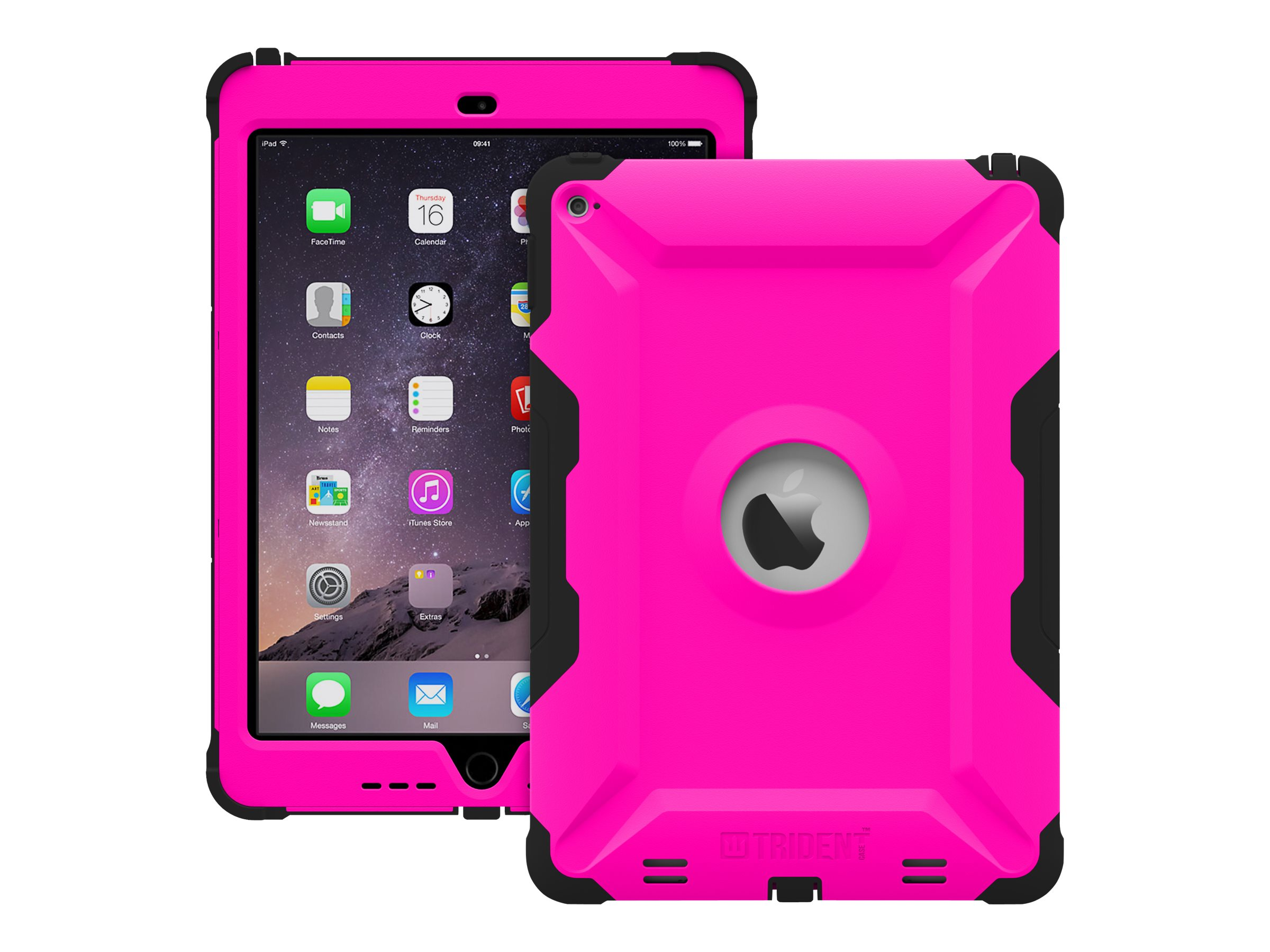 Trident Case 2015 Kraken AMS Case for iPad Air 2, Pink, KN-APIPA2-PK000, 18404871, Carrying Cases - Tablets & eReaders