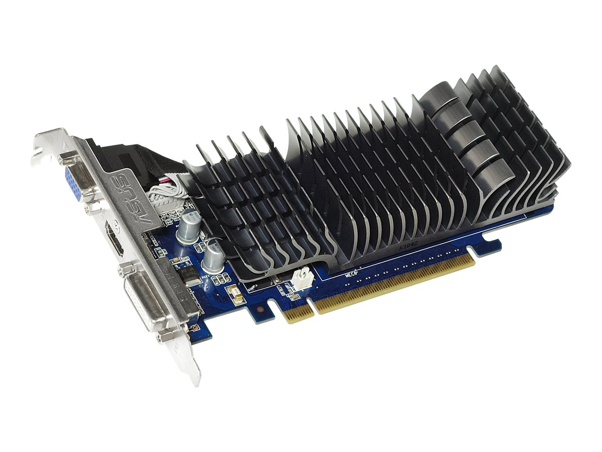 Asus GeForce 210 PCIe 2.0 Low-Profile Graphics Card, 1GB DDR3, EN210 SILENT/DI/1GD3/V2(L, 12395628, Graphics/Video Accelerators