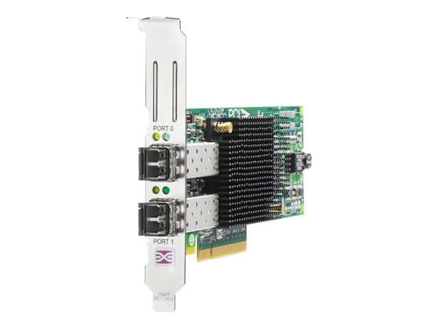HPE 82E 8Gb 2-port PCIe Fibre Channel HBA, AJ763SB, 16250207, Host Bus Adapters (HBAs)