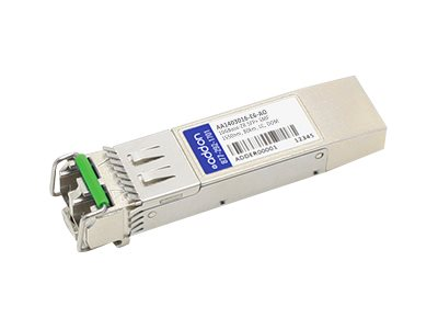 Add On Avaya Nortel 10GBase-ZR SFP+ Transceiver, TAA, AA1403016-E6-AO, 30640631, Network Transceivers