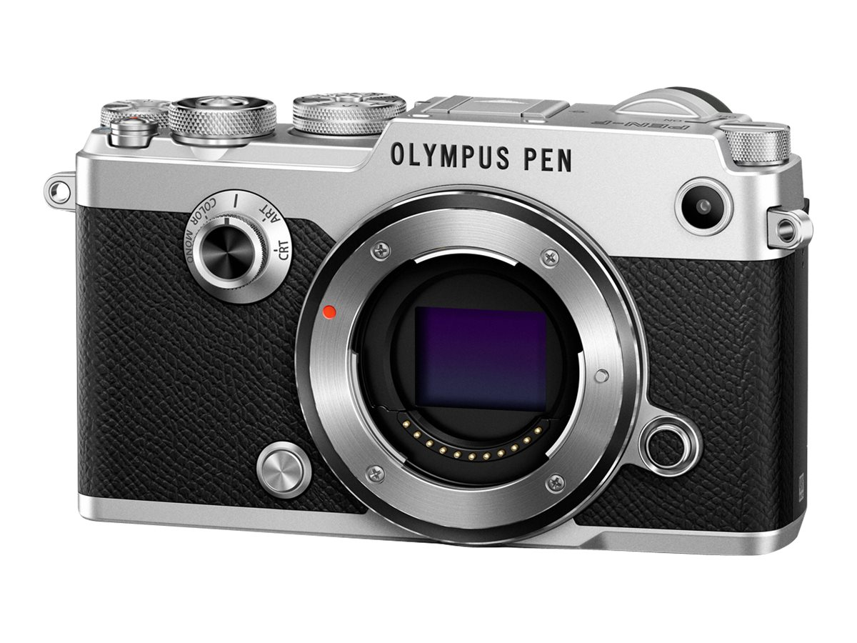 Olympus PEN-F Mirrorless Digital Camera, 20MP, Silver (Body Only), V204060SU000, 31474954, Cameras - Digital - SLR
