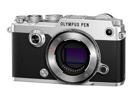 Olympus PEN-F Mirrorless Digital Camera, 20MP, Silver (Body Only), V204060SU000, 31474954, Cameras - Digital
