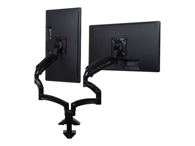 Chief Manufacturing Kontour K1D Dual Monitor Dynamic Desk Mount, Extended Reach - Black (TAA Compliant)
