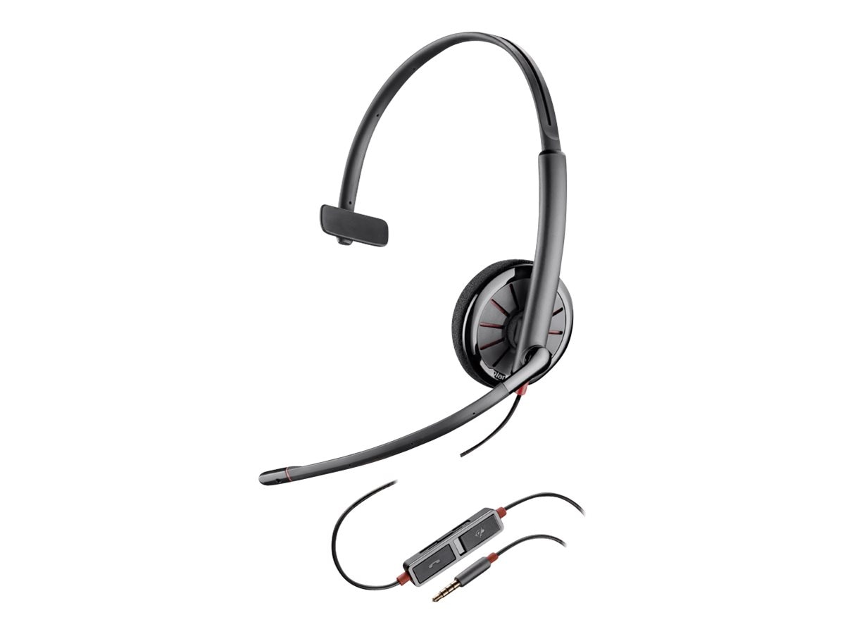 Plantronics BlackWire 215 Mono Headset, 205203-12