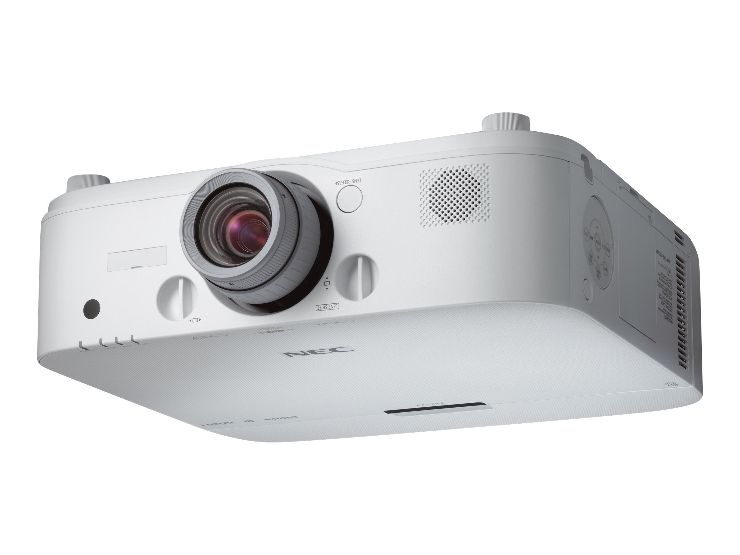 NEC PA521U WXGA LCD Projector, 5200 Lumens, White with 1.5 – 3.0:1 Zoom Lens