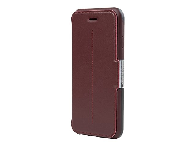OtterBox Strada Series Chic Revival for iPhone 6, Black Maroon