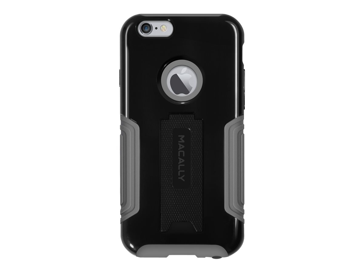 Macally Hard Case and Stand for iPhone 6 Plus, Black, KStandP6MB, 17923506, Carrying Cases - Phones/PDAs