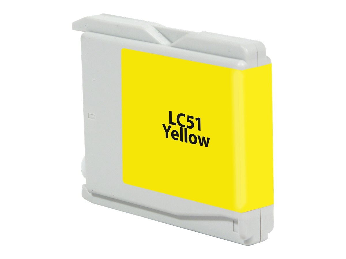 V7 LC51Y Yellow Ink Cartridge for Brother MFC-240C 465CN 685CW 885CW 3360C, V7LC51Y, 18448129, Ink Cartridges & Ink Refill Kits