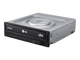 LG 24x DVDRW SATA Drive w  Cyberlink Software - Black (Retail), GH24NSC0R, 17670633, DVD Drives - Internal