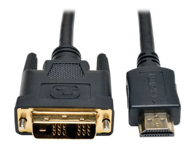 Tripp Lite HDMI to DVI M M Gold Digital Video Cable, 3ft, P566-003, 16702411, Cables
