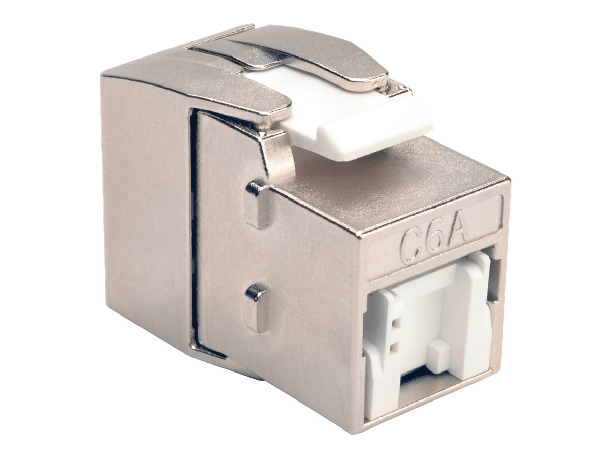 Tripp Lite Toolless Cat6a Keystone Jack, Gray, BHDBT-001-KJ-GY, 30688598, Cable Accessories