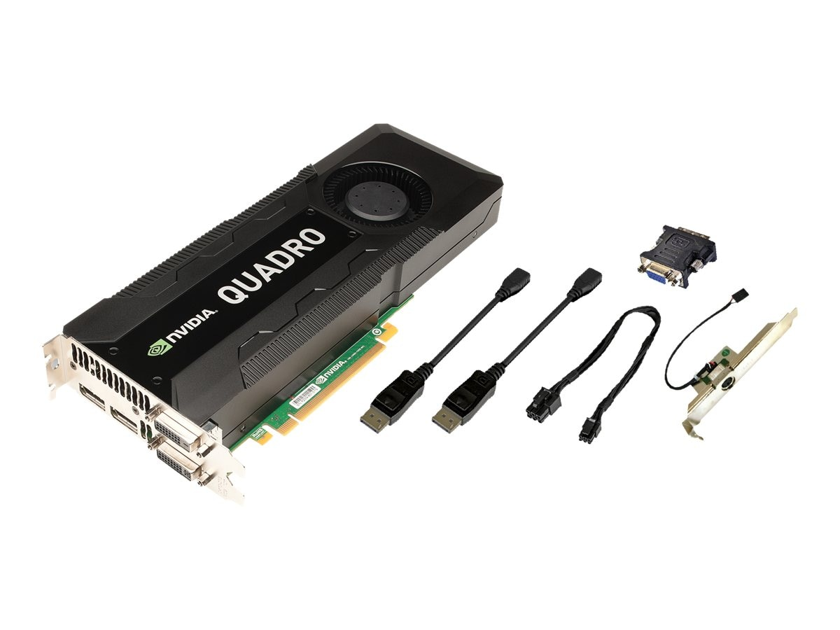 PNY NVIDIA Quadro K5000 PCIe 2.0 x16 Graphics Card, 4GB GDDR5, VCQK5000MAC-PB, 15441896, Graphics/Video Accelerators