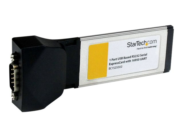 StarTech.com 1-port ExpressCard to RS232 DB9 Serial Adapter Card with 16950, USB-Based, EC1S232U2