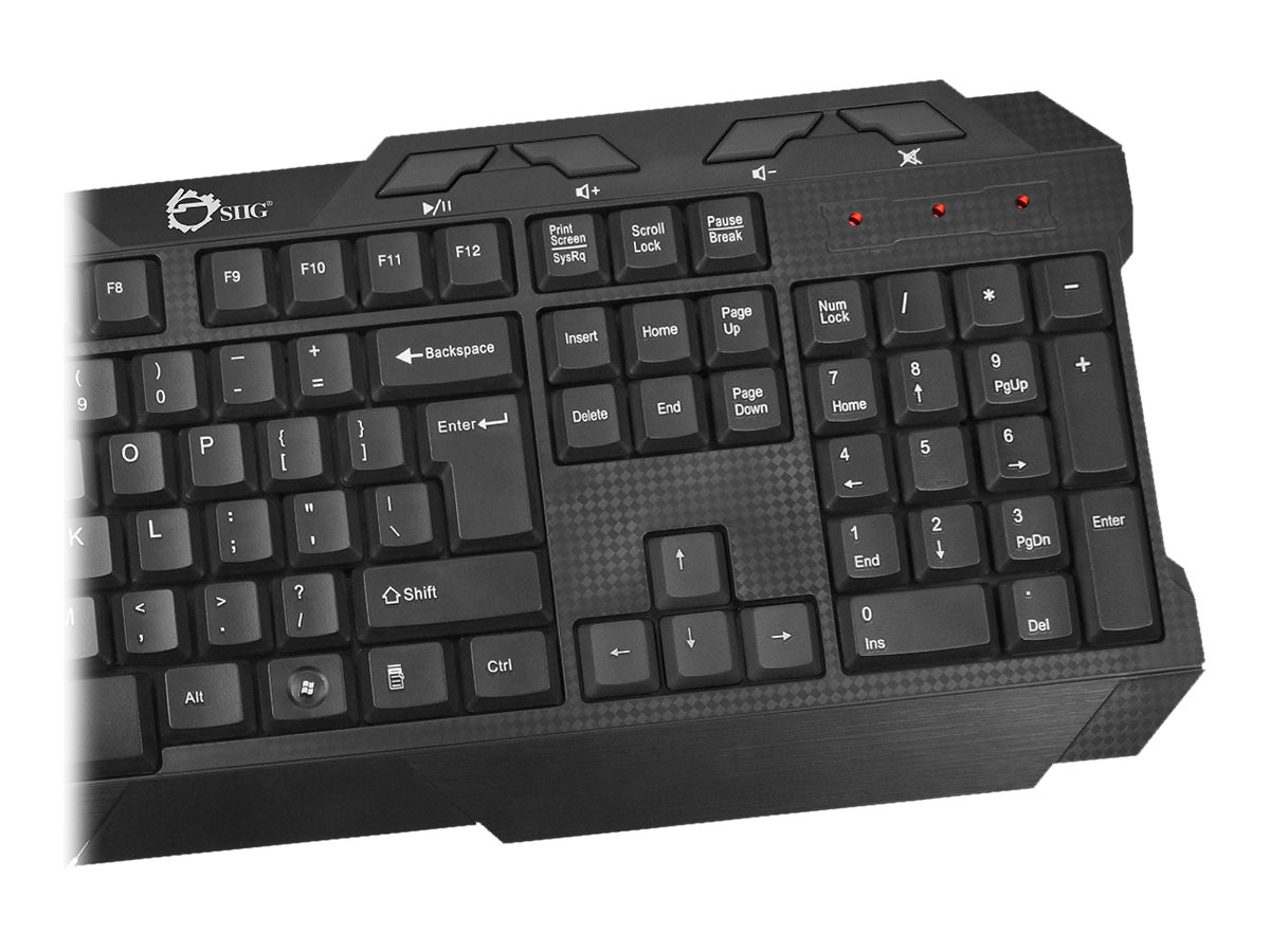 Siig Gaming Inspired Wireless Keyboard w  Wireless Optical Mouse, JK-WR0J12-S1