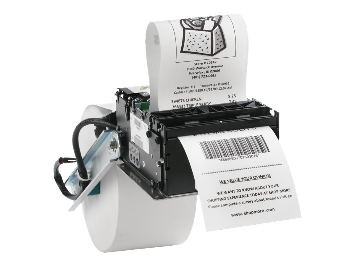 Zebra KR403 Kiosk Receipt Printer w  Serial & USB, P1009545