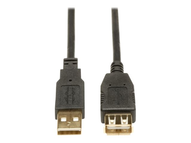 Tripp Lite USB 2.0 Gold Extension Cable, Type A (M) to Type A (F), 6ft, U024-006, 420573, Cables
