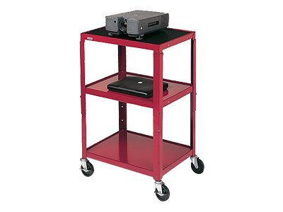 Bretford Manufacturing Adjustable AV Cart, Black, A2642