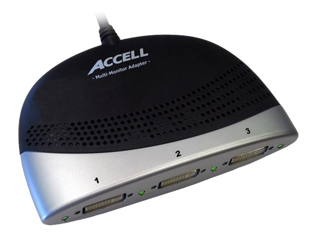 Accell DisplayPort to 3x DVI Multi-Monitor Adapter