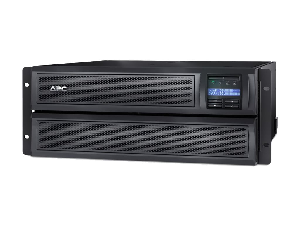 APC Smart-UPS X 3000VA 2700W 208-240V LCD 4U Rack Tower Extended Runtime UPS (10) Outlets USB