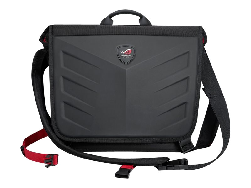 Asus Republic of Gamers Messenger Bag for 15.6 Laptop, Black, 90XB0310-BBP000