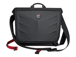Asus Republic of Gamers Messenger Bag for 15.6 Laptop, Black, 90XB0310-BBP000, 31668927, Carrying Cases - Notebook