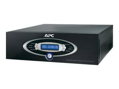APC AV 1.5kVA Power Conditioner with Battery Backup 120V Line Interactive Black, J15BLK, 7069481, Line Conditioners