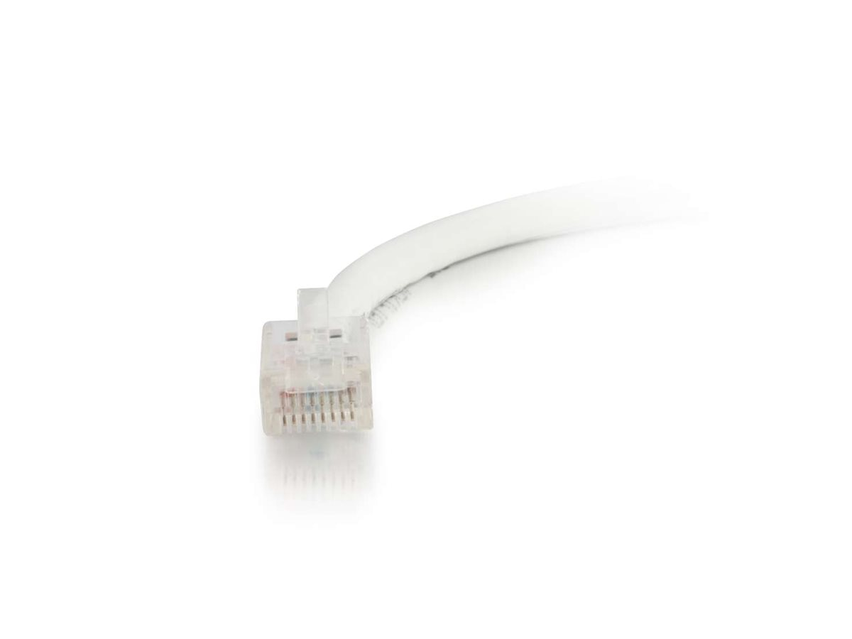 C2G Cat5e Non-Booted Unshielded (UTP) Network Patch Cable - White, 3ft