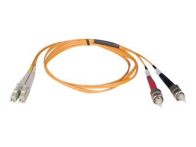 Tripp Lite LC-ST 62.5 125 OM1 Multimode Duplex Fiber Cable, Orange, 9m, N318-09M, 31605299, Cables