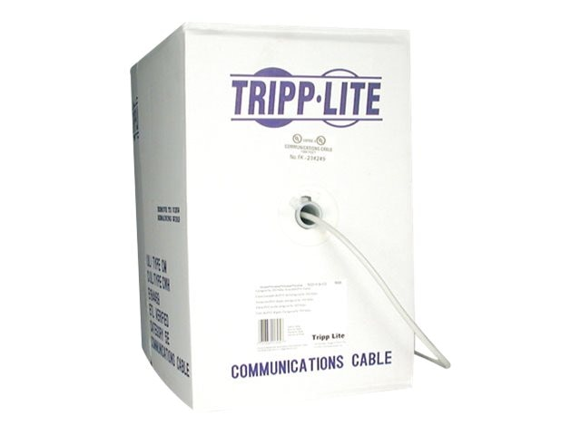 Tripp Lite Cat5e 350MHz Outdoor Solid PVC Bulk Cable, Gray, 1000ft, N028-01K-GY, 9118831, Cables