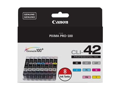 Canon CLI-42 Ink for PIXMA Pro-100, 8-Pack, 6384B007, 31877905, Ink Cartridges & Ink Refill Kits