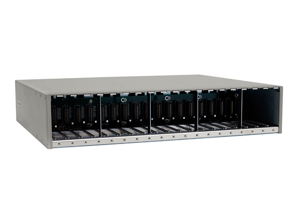 Omnitron iConverter 19-Slot Module Chassis w  3X AC Hi-Powered PSU, 8201-3, 12934847, Network Transceivers