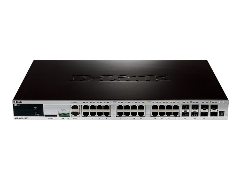 D-Link Xstack 28-port Gigabit L2+ Managed Switch, DGS-3420-28TC, 13394467, Network Switches