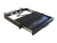 Adesso 19 1U Rackmount Keyboard Drawer with Built-in Touchpad Keyboard - PS 2, ACK-730PB-MRP, 4868579, Keyboards & Keypads