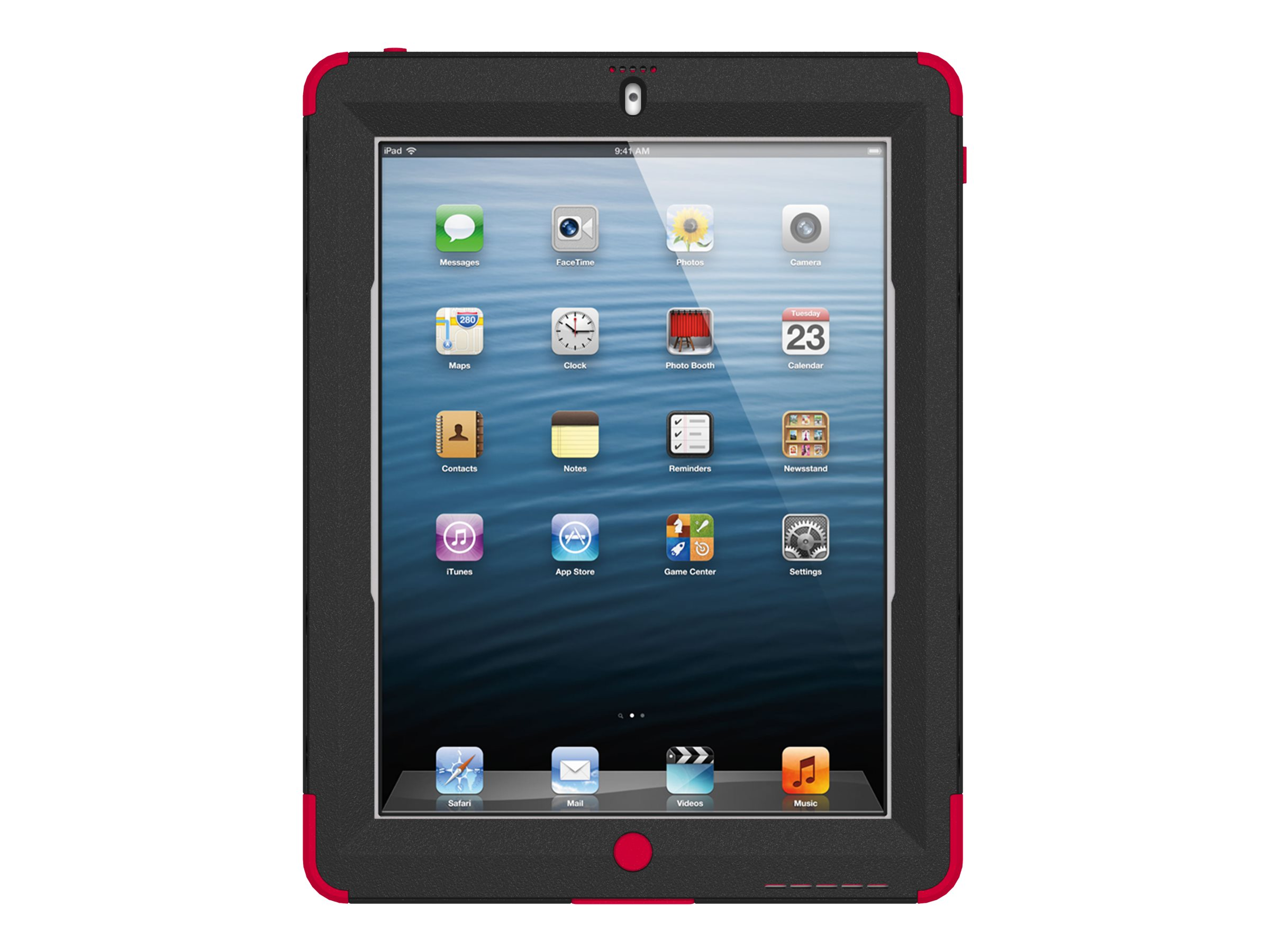 Trident Case Kraken AMS for New iPad, Red, AMS-NEW-IPADUS-RED, 16015012, Carrying Cases - Tablets & eReaders