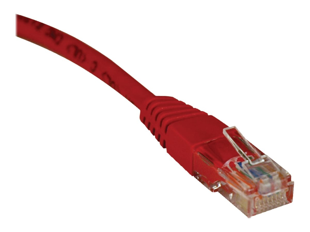 Tripp Lite Cat5e RJ-45 M M 350MHz Molded Patch Cable, Red, 3ft, N002-003-RD, 169142, Cables